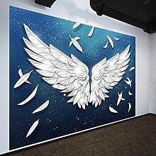JIAOYK Fototapete 3D Weiße Flügel Wandgemälde