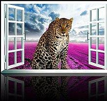 JIAOYK Fototapete Tiere & Leopard Vlies Tapete -