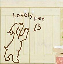 JiaQi Dekor Fensterfolien,Pet Shop Selbstklebend