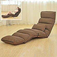 JiaQi Falten Fußboden Stuhl,Verstellbar Faul