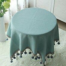 JiaQi Hairball Quaste Tischdecken,Bettwäsche aus