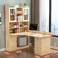 JiaQi L Förmige- Home Office Desk,massivholz Ecke