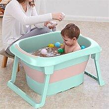 JIASHU Faltbare Babybadewanne, zusammenklappbare,