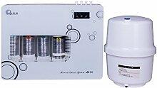 JIAYIDE® Wasserfilter Aufsatz-Wasser-Filtration-System durch belebtes Wasser, hoher pH alkalischer Ionizer Wasser-Reinigungsapparat-Spender, Super-schnelle Filtration, langlebiger Mineralstein keramischer Kohlefilter, verbessert pH u. ORP, fügt wesentliche Mineralien, entfernt schwere Metalle, Flouride u. Bakterien, Haus an U. Büro-Gebrauch GR-KQ01-RO(White)