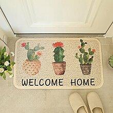 JIAYOU Drahtgehäuse Pad Fußmatte Nach Hause Bad Teppich-Fußmatten Skid Fußmatte Eingangshalle Balkon,#10,45*75Cm