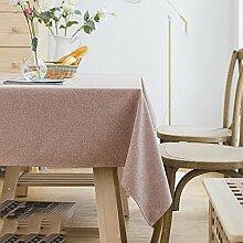 JIAYOU Tischdecke Kunst Baumwolle und Leinen