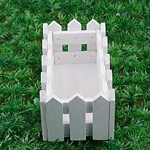 Jiayuane 1 Stück Holz Lattenzaun Fenster Box /