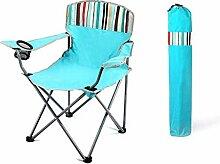 JICEVNK Camping-Stuhl, tragbare Faltung mit