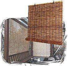 JIcloun Bambusrollo Holzrollo Schilf Vorhang,