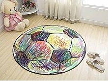 JIFAN Cartoon Runden Teppich, Kinderzimmer Spiel
