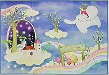 JIFAN Cartoon Teppich, Baby-Climbing-Matte,