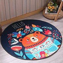 JIFAN Kind Cartoon Teppich, Baby Krabbeln Decke