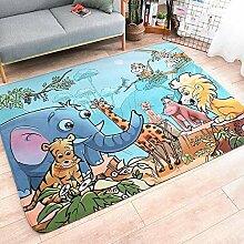 JIFAN Kinderteppich, Cartoon Waldtier Teppich,