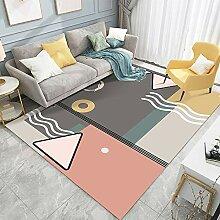 JIFAN Kunst Farbe Teppich, Mädchen Zimmer