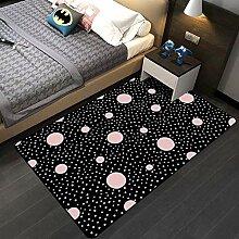 JIFAN Mädchenzimmer Kreativer Teppich,