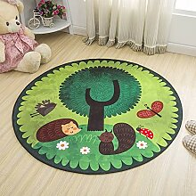 JIFAN Rund Eichhörnchen Teppich Kinderzimmer