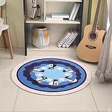 JIFAN Runder Teppich, Cartoon-Puzzle-Teppich