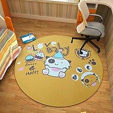 JIFAN Runder Teppich, Interessante Spielunterlage
