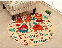 JIFAN Runder Teppich, Kinderspielauflage