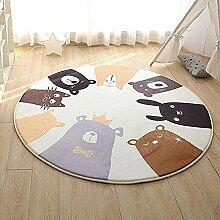 JIFAN Runder Teppich, Kinderzimmer Weiche