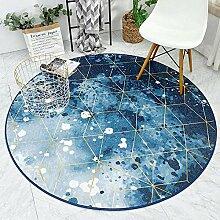 JIFAN Runder Teppich, Nordic Art Haushaltsteppich