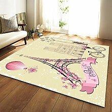 JIFAN Teppich, Nordic Haushalt Polyester Teppich