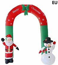 Jiken Aufblasbarer Weihnachtsmann und Schneemann
