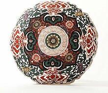 Jikonghome Das Kissen Orientalische Muster Klassische Baumwolle Futon Sofa Kissen Kissen Runde E