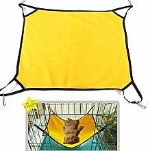 jilesm atmungsaktiv Pet Käfig Hängematte Bett aufhängen Katzen Hängematte (gelb)