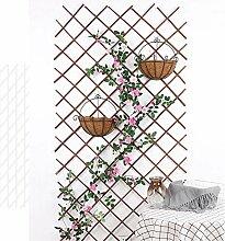 Jilijia Wand-Spalier aus Holz, dehnbarer Zaun aus