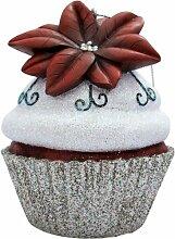JILLSON Roberts Christmas Cupcake Ornament, silber Weihnachtsstern Glitzer