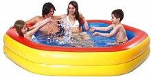 Jilong Hexagon Swimming Pool 230x230x45 cm Familienpool Planschbecken Kinderpool Schwimmbecken Kinder und Familien Schwimmbad für Garten und Terasse