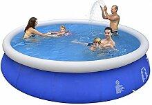 Jilong Marin Blue 420 - Quick-up Pool, Schwimmbecken, blau, 420 x 420 x 84 cm, 8652 L, 17540