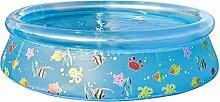 Jilong Ocean Pool Ø 150 x 38 cm transparenter Quick-Up Kinderpool Planschbecken Schwimmbecken Kinder Schwimmbad für Garten und Terasse