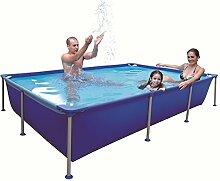 Jilong Pool rechteckig 258x179x66 cm blau