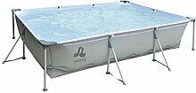 Jilong Pool rechteckig 300x207x70 cm grau