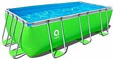 Jilong Pool rechteckig mit Rahmen 400x200x99 cm grün