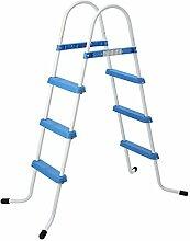 Jilong Poolleiter bis 109 cm Poolhöhe 3 Stufen Schwimmbad Treppe Beckenleiter Pooltreppe Leiter Einstieg für Aufstell-Schwimmbecken aller Art und Hersteller