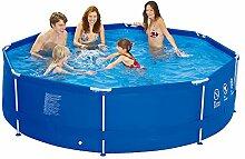 Jilong Sirocco Swimming Pool Ø 300x76 cm Stahlrohr Becken Schwimmbecken Stahlrahmen Schwimmbad Familienpool Ersatzbecken ohne Zubehör