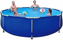 Jilong Sirocco Swimming Pool Ø 360x76 cm Stahlrohr Becken Schwimmbecken Stahlrahmen Schwimmbad Familienpool Ersatzbecken ohne Zubehör