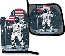 Jimbseo Amerikanische Flagge Astronaut Lone Wolf
