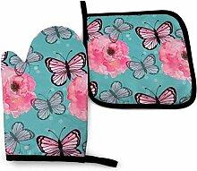 Jimbseo Aquarell Blume und Schmetterling Braun