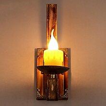 JIN Hölzerner Kerzenhalter Wandlampe kreative Flurlampe