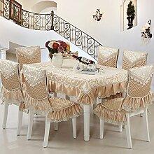 JIN MAOMAO Tischtuch Mit Spitze,Tabelle Tuch