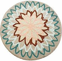 JIN Runde Teppich handgemachte gestickte nordische