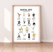 JinYiGlobal Geschenk für Martial Art Lovers