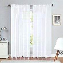 jinchan Vorhang aus Leinen, für Schlafzimmer,
