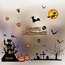 jinda Halloween Wandaufkleber Horror Tür