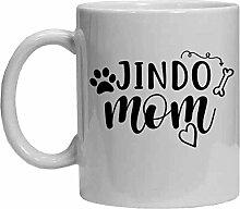 Jindo Tasse – Jindo Mom – Lustige Kaffeetasse