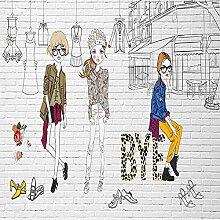 JINFANGBZ Tapete Fototapete 3d Effekt Cartoon Mode